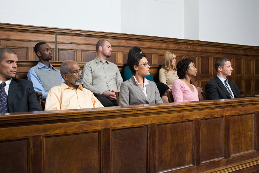Jurors in Juror Box